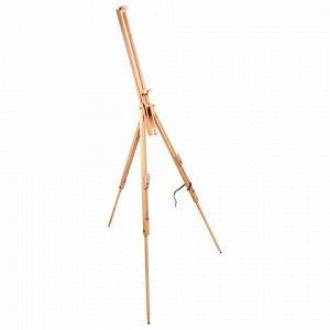 Мольберт полевой BRAUBERG ART CLASSIC, тренога, бук, высота 84 -187 см, высота холста 106см, 190651