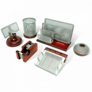 """Набор настольный GALANT """"Wood&Metal"""", 6 предметов, красное дерево и никелированный металл, 230876"""