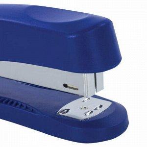 """Степлер №24/6, 26/6 BRAUBERG """"Standard+"""", до 30 листов, полнозагрузочный, синий, 228607"""