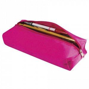 "Пенал-косметичка BRAUBERG, полиэстер, ""Радуга"", розовый, 20х6х4 см, 226709"