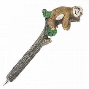 """Ручка фигурная """"ЛЕНИВЦЫ"""", СИНЯЯ, 4 дизайна ассорти, 0,5 мм, дисплей, BRAUBERG, 142762"""