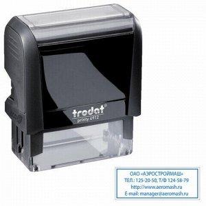 Оснастка для штампа, размер оттиска 47х18 мм, синий, TRODAT 4912 P4, подушка в комплекте, 52877