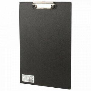 """Доска-планшет BRAUBERG """"Comfort"""" с прижимом А4 (230х350 мм), картон/ПВХ, РОССИЯ, ЧЕРНАЯ, 222657"""