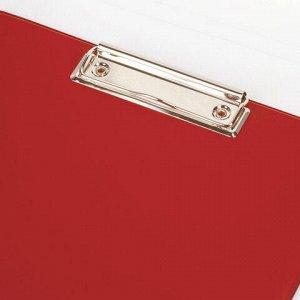 """Доска-планшет BRAUBERG """"Comfort"""" с прижимом А4 (230х350 мм), картон/ПВХ, РОССИЯ, КРАСНАЯ, 222658"""