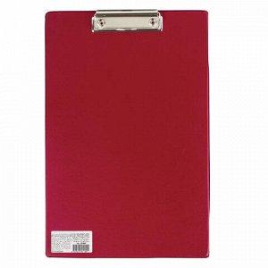 """Доска-планшет BRAUBERG """"Comfort"""" с прижимом А4 (230х350 мм), картон/ПВХ,РОССИЯ, БОРДОВАЯ, 222660"""