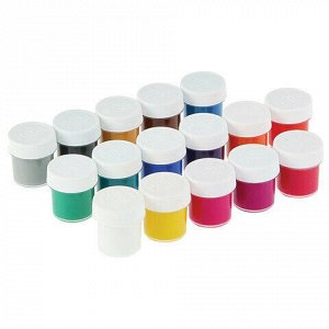 "Гуашь ГАММА ""Мультики"", 16 цветов по 20 мл, без кисти, картонная упаковка, 221032_16"
