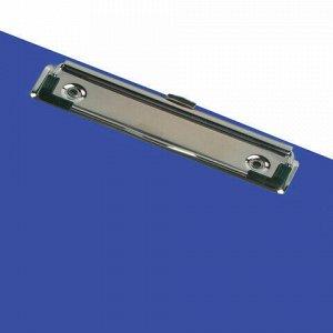 "Доска-планшет BRAUBERG ""SOLID"" сверхпрочная с прижимом А4 (315х225 мм), пластик, 2 мм, СИНЯЯ, 226823"