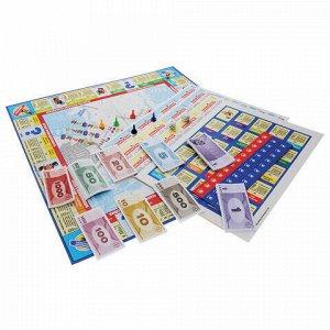 """Игра настольная """"Миллионер Classic"""", игровое поле, банкноты, жетоны, акции, полисы, ORIGAMI, 00109"""