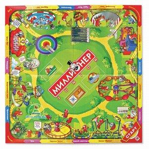 """Игра настольная """"Миллионер Junior"""", игровое поле, карточки, банкноты, жетоны, ORIGAMI, 00110"""
