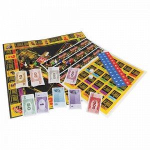 """Игра настольная """"Миллионер de LUXE"""", игровое поле, карточки, банкноты, жетоны, ORIGAMI, 01828"""