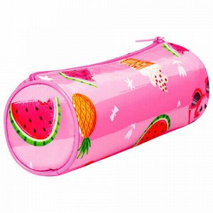 "Пенал-тубус BRAUBERG, с эффектом Soft Touch, мягкий, ""Watermelon"", 22х8 см, 229009"