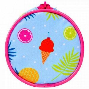 "Пенал-тубус BRAUBERG, с эффектом Soft Touch, мягкий, ""Fruits"", 22х8 см, 229014"