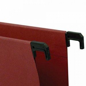 Подвесные папки А4 (350х245 мм), до 80 листов, КОМПЛЕКТ 10 шт., красные, картон, BRAUBERG (Италия), 231792