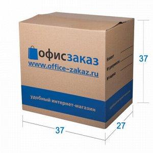 Гофроящик с логотипом, длина 370 х ширина 270 х высота 370 мм, марка Т22, профиль В, ОФИС-ЗАКАЗ, малый, 501386