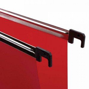 Подвесные папки А4 (350х245 мм), до 80 листов, КОМПЛЕКТ 5 шт., пластик, красные, BRAUBERG (Италия), 231800