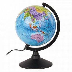 """Глобус политический GLOBEN """"Классик"""", диаметр 210 мм, с подсветкой, К012100010"""