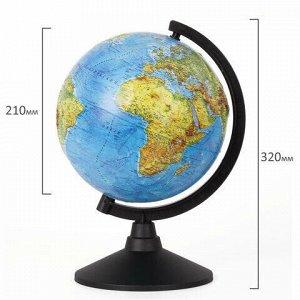 """Глобус физический GLOBEN """"Классик"""", диаметр 210 мм, рельефный, К022100011"""