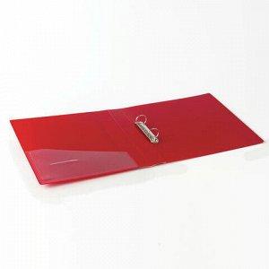 """Папка на 2 кольцах BRAUBERG """"Contract"""", 35 мм, красная, до 270 листов, 0,9 мм, 221793"""