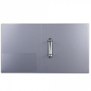 Папка на 2 кольцах БЮРОКРАТ, 40 мм, внутренний карман, ассорти, до 250 листов, 0,8 мм, 0812/2R