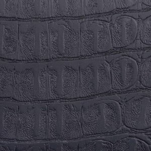 "Визитница однорядная BRAUBERG ""Cayman"", на 20 визиток, под кожу крокодила, черная, 232069"