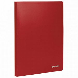 "Папка на 2 кольцах BRAUBERG ""Office"", 25 мм, красная, до 170 листов, 0,5 мм, 227496"
