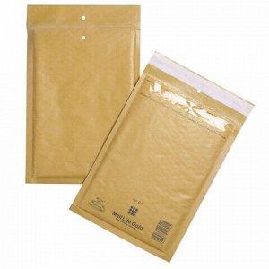 Конверт-пакеты с прослойкой из пузырчатой пленки (200х275 мм), крафт-бумага, отрывная полоса, КОМПЛЕКТ 100 шт., D/1-G