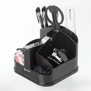 """Канцелярский набор BRAUBERG """"Офисный 200"""", 10 предметов, вращающаяся конструкция, черный, блистер, 236950"""