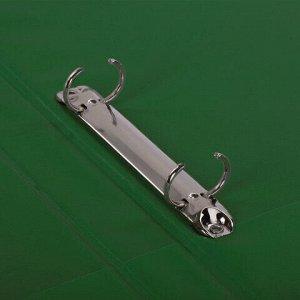 Папка на 2 кольцах BRAUBERG, картон/ПВХ, 35 мм, зеленая, до 180 листов (удвоенный срок службы), 228379