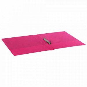Папка на 2 кольцах BRAUBERG, картон/ПВХ, 35 мм, розовая, до 180 листов (удвоенный срок службы), 228382