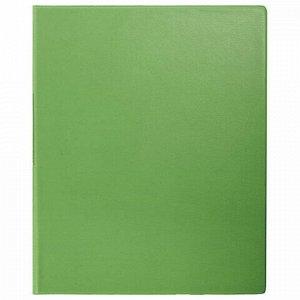 Папка на 2 кольцах BRAUBERG, картон/ПВХ, 35 мм, лайм, до 180 листов (удвоенный срок службы), 228383