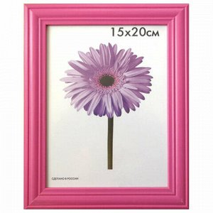 "Рамка премиум 15х20 см, дерево, багет 26 мм, ""Linda"", малиновая, подставка, 0065-6-0020"