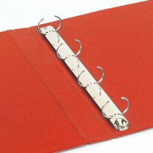 Папка на 4 кольцах BRAUBERG, картон/ПВХ, 40 мм, красная, до 250 листов (удвоенный срок службы), 228394