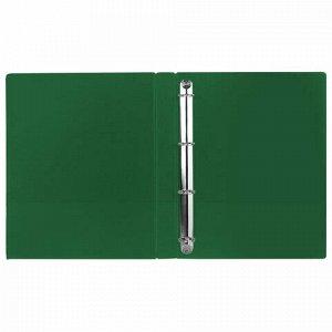 Папка на 4 кольцах BRAUBERG, картон/ПВХ, 40 мм, зеленая, до 250 листов (удвоенный срок службы), 228395