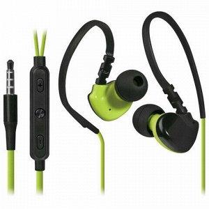 Наушники с микрофоном (гарнитура) вкладыши DEFENDER OutFit W770, проводные, 1,5 м, черные с желтым, 63770