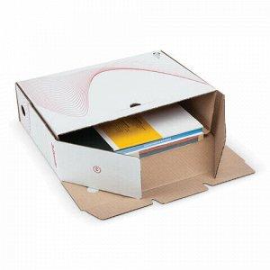 "Короб архивный с клапаном А4 (245х345 мм), 100 мм, до 900 листов, микрогофрокартон, БЕЛЫЙ, ESSELTE ""Boxy"", 128102"