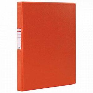 Папка на 2 кольцах BRAUBERG, картон/ПВХ, 35 мм, красная, до 180 листов (удвоенный срок службы), 228378