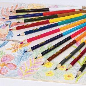Карандаши двусторонние ПИФАГОР, 12 штук, 24 цвета, заточенные, картонная упаковка, 180244
