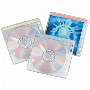 Конверты для CD/DVD BRAUBERG, комплект 40 шт., на 2 CD/DVD, износоустойчивая основа, европодвес, 510196