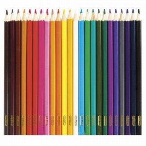 Карандаши цветные ПИФАГОР, 24 цвета, классические, заточенные, картонная упаковка, 180298