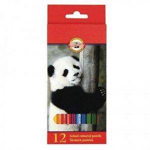 """Карандаши цветные KOH-I-NOOR """"Animals"""", 12 цветов, грифель 2,8 мм, заточенные, европодвес, 3552/12, 3552012008KSRU"""