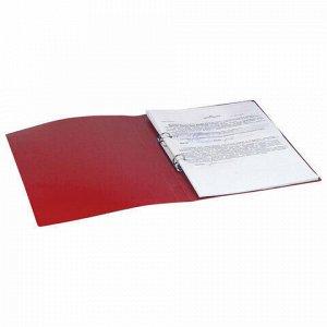 "Папка на 2 кольцах BRAUBERG ""Office"", 32 мм, красная, до 250 листов, 0,5 мм, 227500"