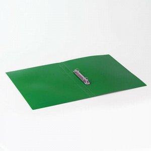 "Папка на 2 кольцах BRAUBERG ""Office"", 32 мм, зеленая, до 250 листов, 0,5 мм, 227501"