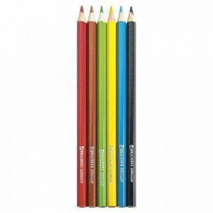 """Карандаши цветные BRAUBERG """"Star Patrol"""", 6 цветов, заточенные, картонная упаковка, 180519"""