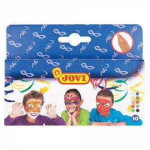 Грим для лица JOVI (Испания), 10 цветов, пигментированный воск, картонная упаковка, 176