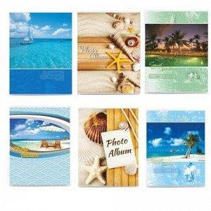 """Фотоальбом BRAUBERG на 36 фото 10х15 см, мягкая обложка, """"Вид на океан"""", ассорти, 390651"""