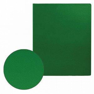 Папка на 2 кольцах BRAUBERG, картон/ПВХ, 75 мм, зеленая, до 500 листов (удвоенный срок службы), 228391