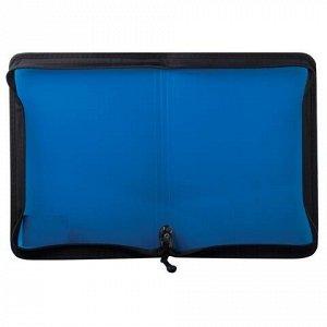 """Папка на молнии пластиковая BRAUBERG """"Income"""", А4, 325х230 мм, тонированная, 3 цвета ассорти, 224055"""
