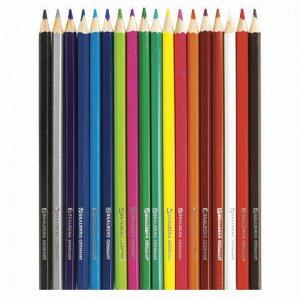 "Карандаши цветные BRAUBERG ""My lovely dogs"", 18 цветов, заточенные, картонная упаковка, 180546"