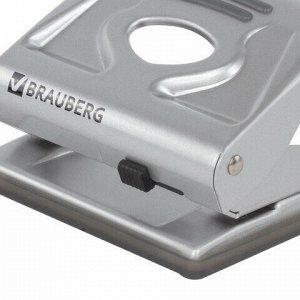 """Дырокол металлический BRAUBERG """"Metallic"""", до 20 листов, серебристый, 224339"""
