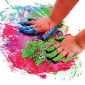 Краски пальчиковые JOVI (Испания), 6 цветов по 125 мл, на водной основе, в баночках, 560/S